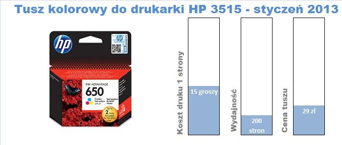 Tusz kolorowy HP 650 do HP 3515